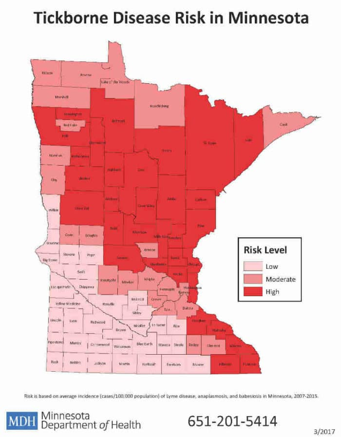 Tickborne Disease Risk in Minnesota