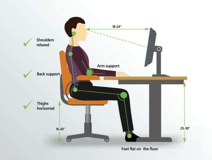 Proper Posture While Using A Computer
